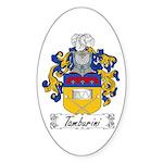 Tamburini Coat of Arms Oval Sticker