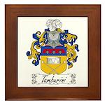 Tamburini Coat of Arms Framed Tile