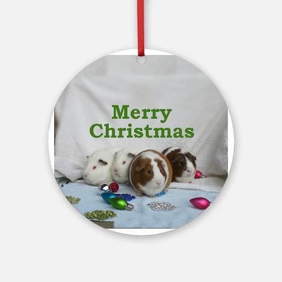 Guinea pig Christmas Ornament (Round)