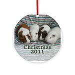 Guinea pig Christmas 2011 Ornament (Round)