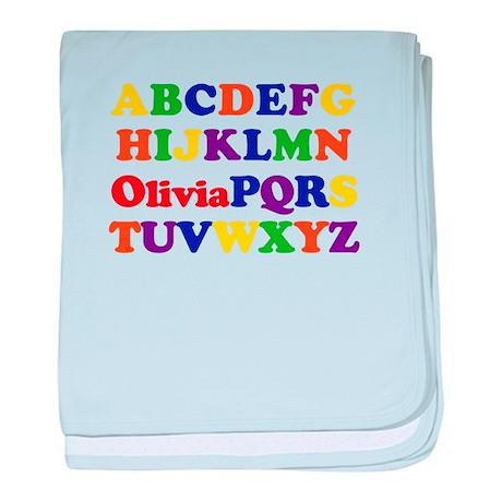 Olivia - Alphabet baby blanket