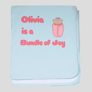 Olivia is a Bundle of Joy baby blanket
