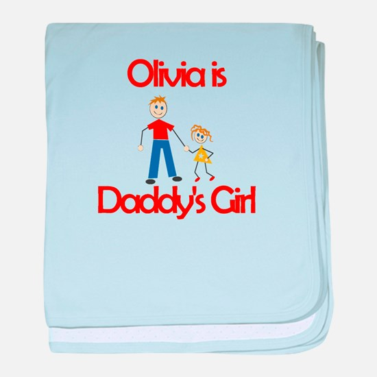 Olivia is Daddy's Girl baby blanket