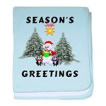 Christmas Greetings baby blanket