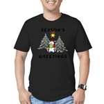 Christmas Greetings Men's Fitted T-Shirt (dark)