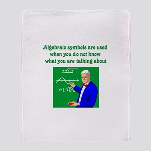 Algebraic Symbols Throw Blanket
