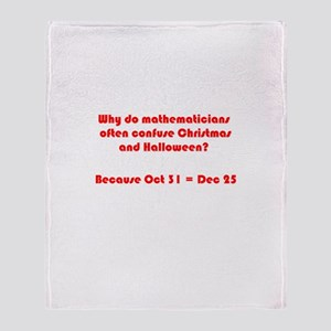 Octal or Decimal? #2 Throw Blanket