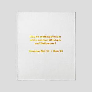 Octal or Decimal? Throw Blanket