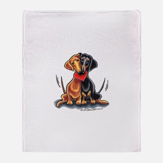 Smooth Dachshund Lover Throw Blanket
