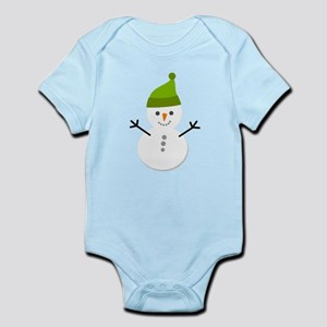 Cute Cartoon Snowman Infant Bodysuit
