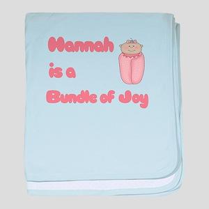 Hannah is a Bundle of Joy baby blanket