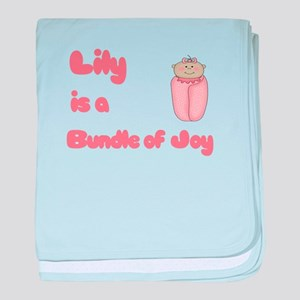 Lily is a Bundle of Joy baby blanket
