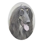 Afghan Hound Oval Ornament