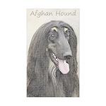 Afghan Hound Sticker (Rectangle 50 pk)