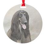 Afghan Hound Round Ornament