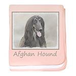 Afghan Hound baby blanket
