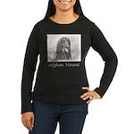 Afghan Hound Women's Long Sleeve Dark T-Shirt