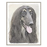Afghan Hound Small Poster