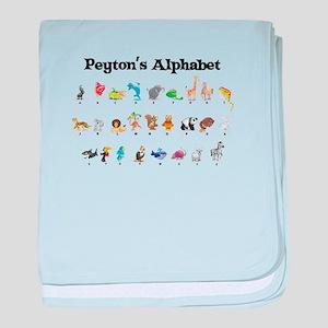 Peyton's Animal Alphabet baby blanket