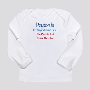 Peyton Is In Charge Long Sleeve Infant T-Shirt