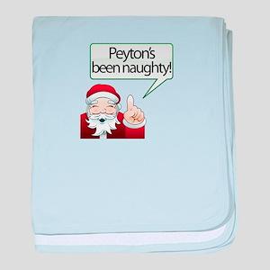 Peyton's Been Naughty baby blanket