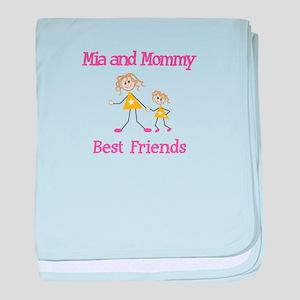 Mia & Mommy - Friends baby blanket
