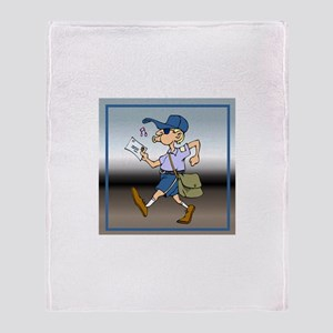 Mail Carrier Throw Blanket