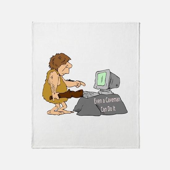 Caveman Throw Blanket