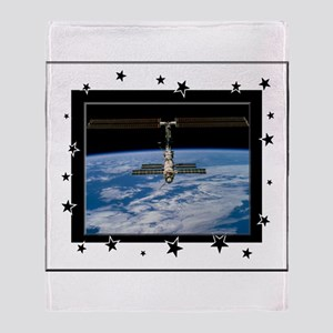 Space Station Throw Blanket
