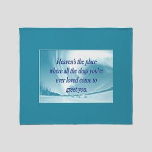 Dogs Heaven Throw Blanket