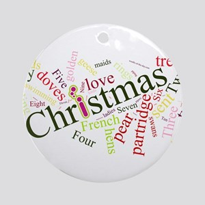 Wordle of the Day Ornament (Round)