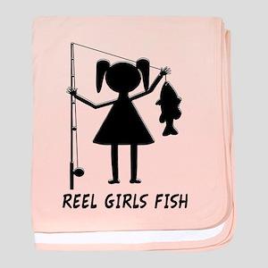 Reel Girls Fish baby blanket