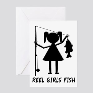 Reel Girls Fish Greeting Card