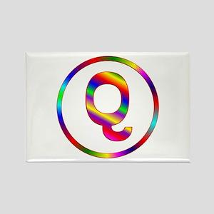 Letter Q Rectangle Magnet