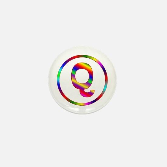 Letter Q Mini Button