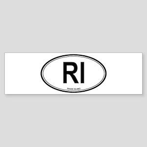 Rhode Island (RI) euro Bumper Sticker