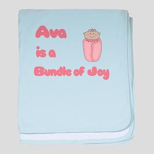 Ava is a Bundle of Joy baby blanket