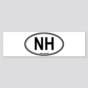 New Hampshire (NH) euro Bumper Sticker