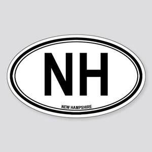 New Hampshire (NH) euro Oval Sticker