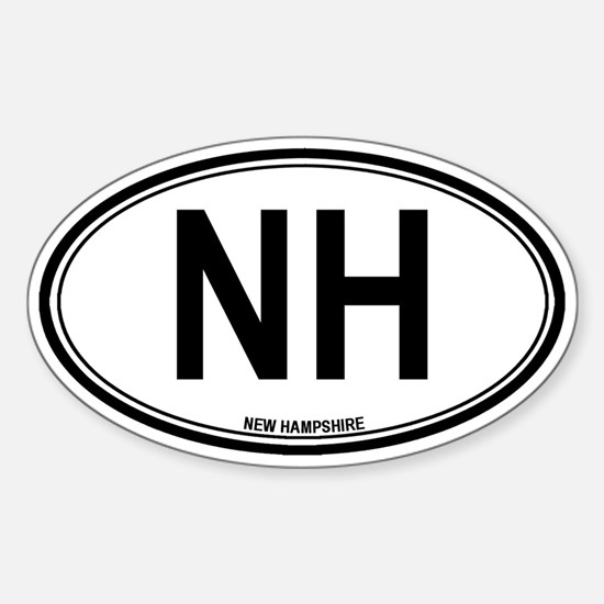 New Hampshire (NH) euro Oval Decal