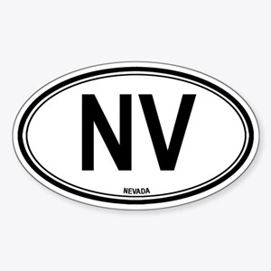 Nevada (NV) euro Oval Sticker