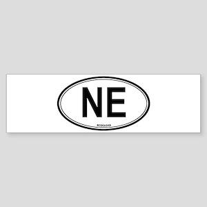 Nebraska (NE) euro Bumper Sticker