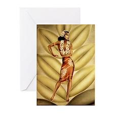 Hula Dancer Greeting Cards (Pk of 10)