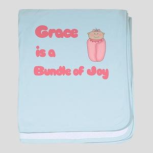 Grace is a Bundle of Joy baby blanket