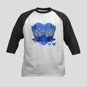 Twilight Midnight Blue Kids Baseball Jersey