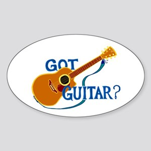 Got Guitar? Sticker (Oval)