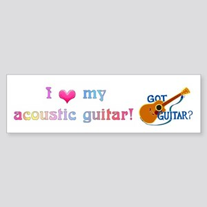 Got Guitar? Sticker (Bumper)