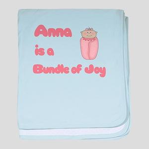 Anna is a Bundle of Joy baby blanket