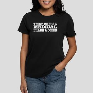 Medical Biller and Coder Women's Dark T-Shirt