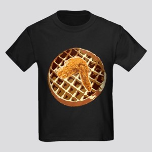 Chicken and Waffle Kids Dark T-Shirt